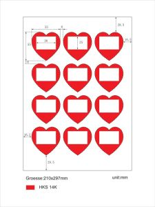 Heart shape labels