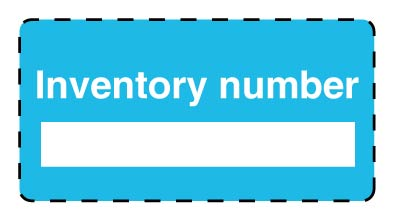 Inventory labels/ Property